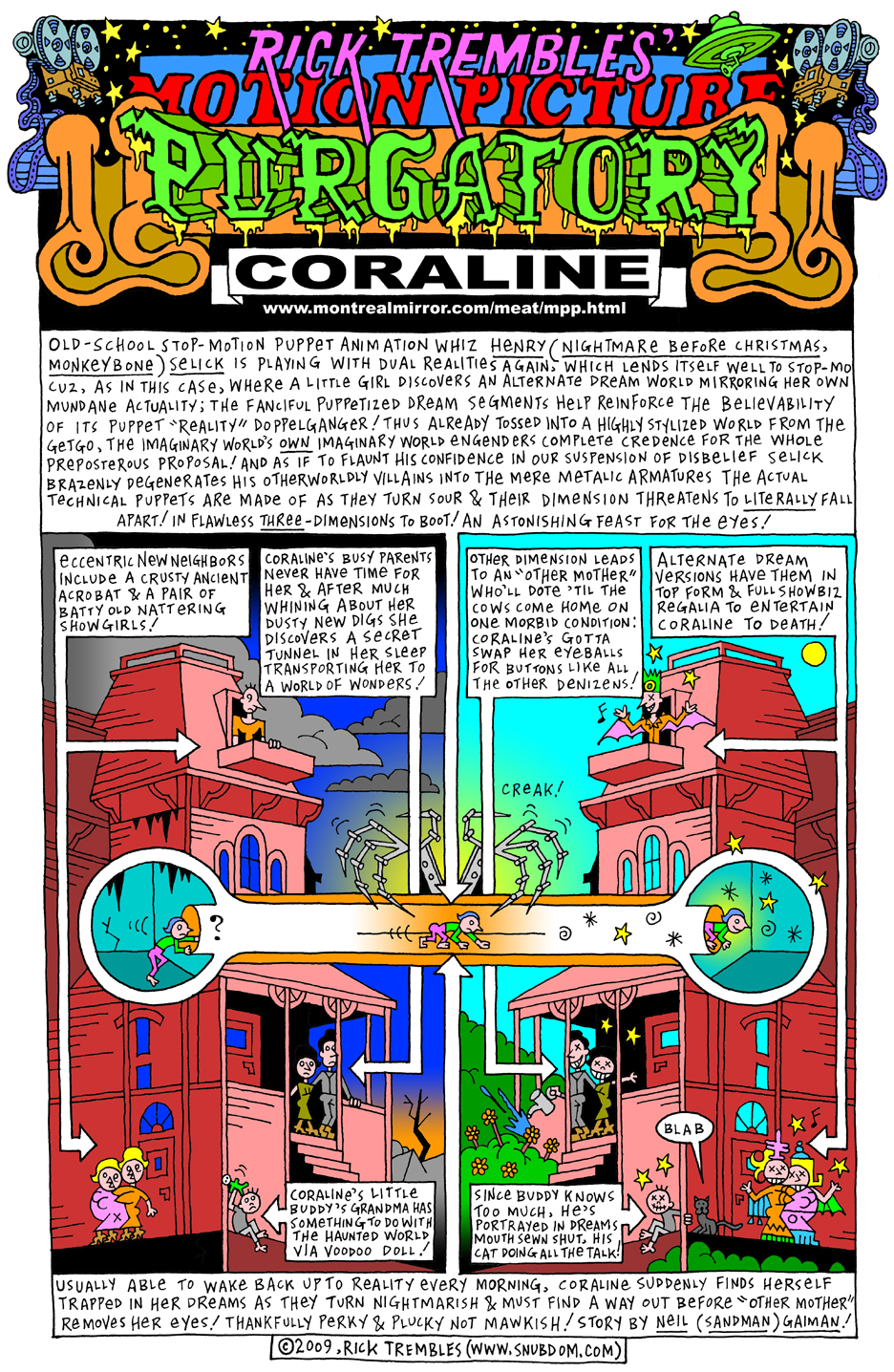 Motion Picture Purgatory Coraline 2009 Snubdom