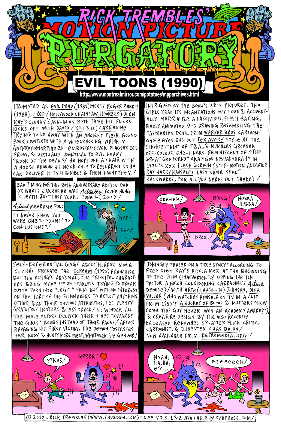 Motion Picture Purgatory Evil Toons 1990 Snubdom